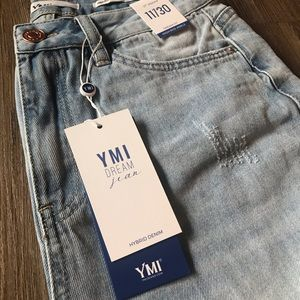 YMI Jeans - YMI JUNIOR HYBRID DREAM HIGH-RISE DENIM ANKLE JEAN